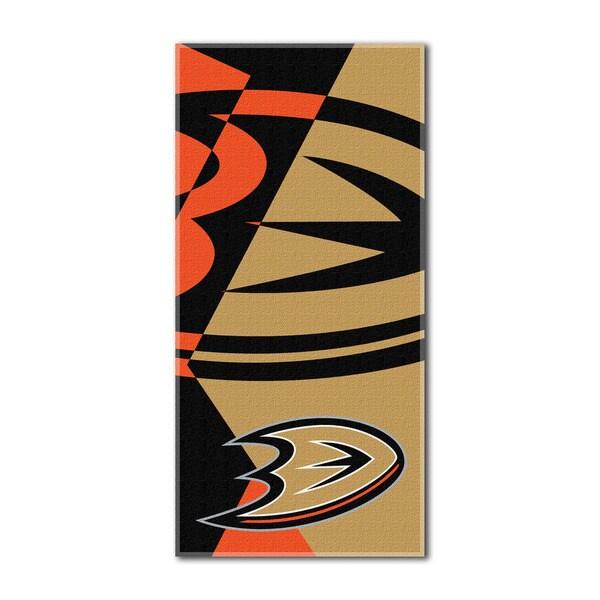 NHL 622 Ducks Puzzle Beach Towel