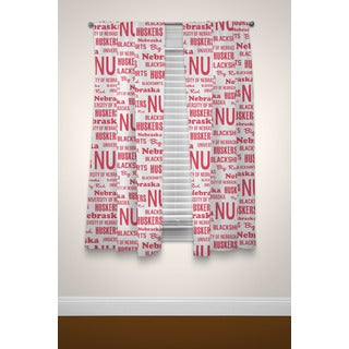 The Northwest Company COL Nebraska Cornhuskers Anthem Curtain Panel Pair