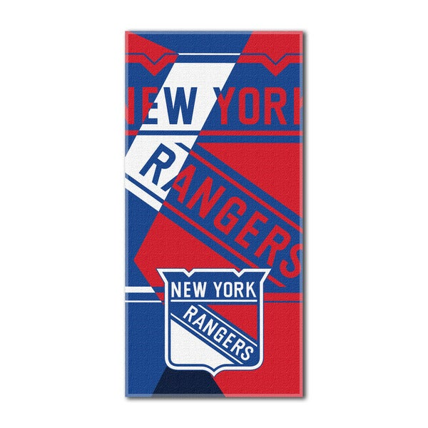 NHL New York Rangers Puzzle Beach Towel