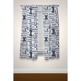 The Northwest Company COL Illinois Anthem Blue/White Curtain Panel Pair
