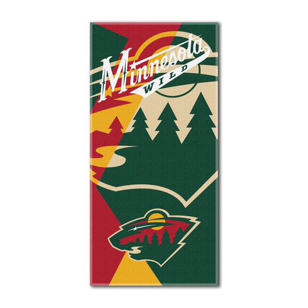 NHL 622 Wild Puzzle Beach Towel
