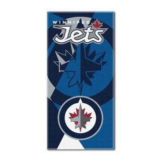 NHL 622 Winnipeg Jets Puzzle Beach Towel
