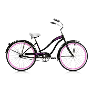 Micargi Rover Black 26-inch Single Speed Beach Cruiser