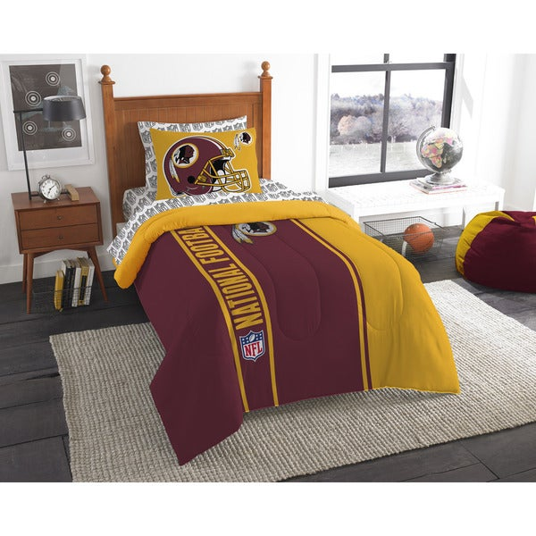The Northwest Company NFL Washington Redskins Twin 5-piece Bed in a Bag with Sheet Set