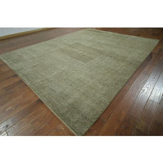 Hand-knotted Oriental Moroccan Beige Wool Rug (9'5 x 12')
