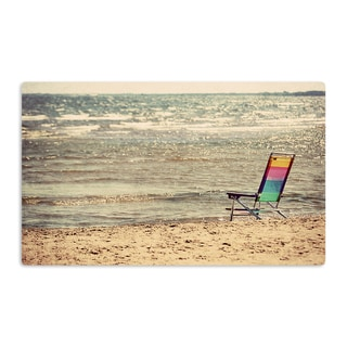 KESS InHouse Angie Turner 'Beach Chair' Sandy Beach Artistic Aluminum Magnet