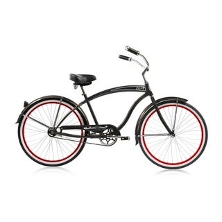 Micargi 26-inch Matte Black Rover Single Speed Cruiser