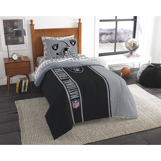 The Northwest Company NFL Oakland Raiders Twin 5-piece Bed in a Bag with Sheet Set