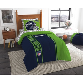 The Northwest Company NFL Seattle Seahawks Twin 5-piece Bed in a Bag with Sheet Set