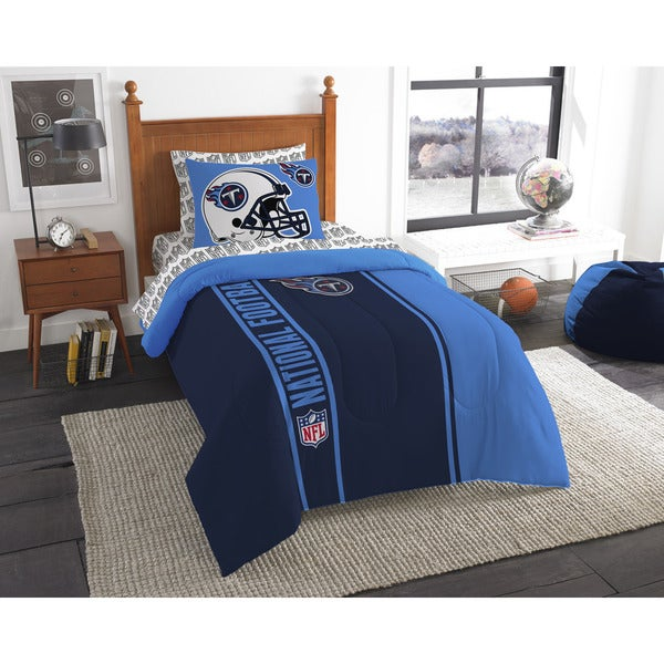 The Northwest Company NFL Tennessee Titans Twin 5-piece Bed in a Bag with Sheet Set