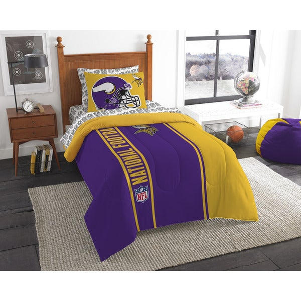 The Northwest Company NFL Minnesota Vikings Twin 5-piece Bed in a Bag with Sheet Set