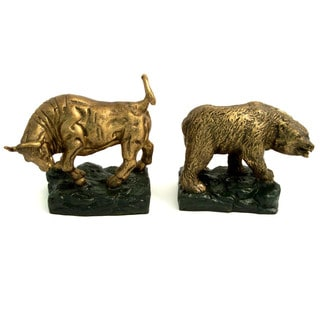 Bey Berk Bronze Bull and Bear Bookends