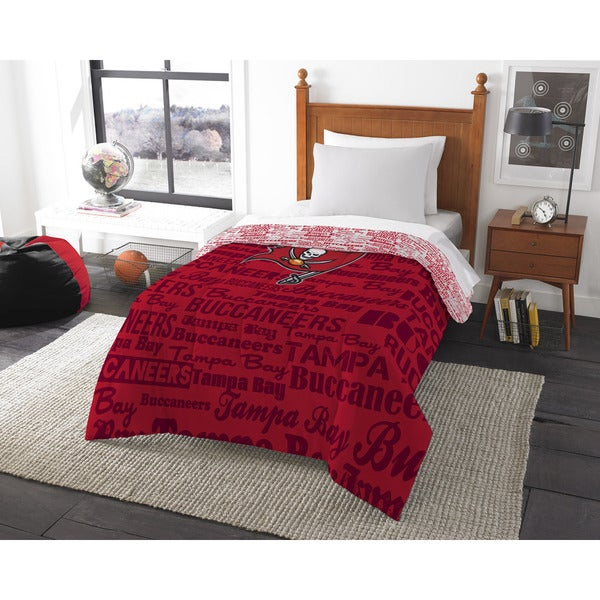 The Northwest Company NFL Tampa Bay Buccaneers Anthem Twin Comforter