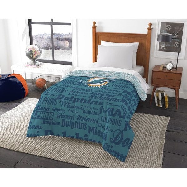 The Northwest Company Official NFL Miami Dolphins Anthem Twin Comforter