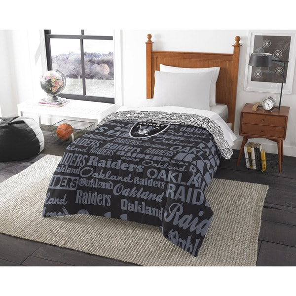 The Northwest Company Official NFL Oakland Raiders Anthem Twin Comforter