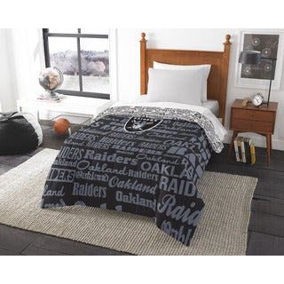 The Northwest Company Official NFL 876 Raiders Anthem Twin Comforter