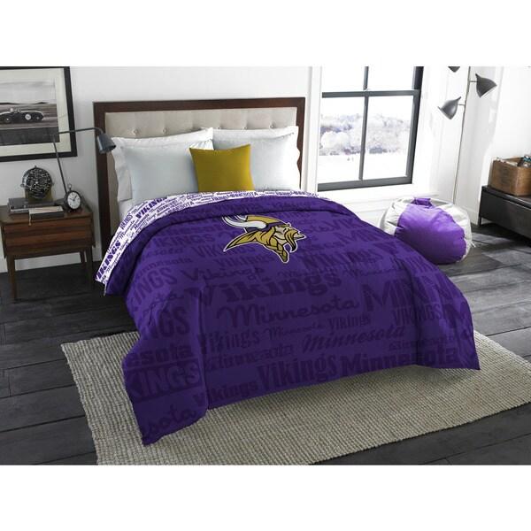 The Northwest Company Official NFL Minnesota Vikings Anthem Full Comforter