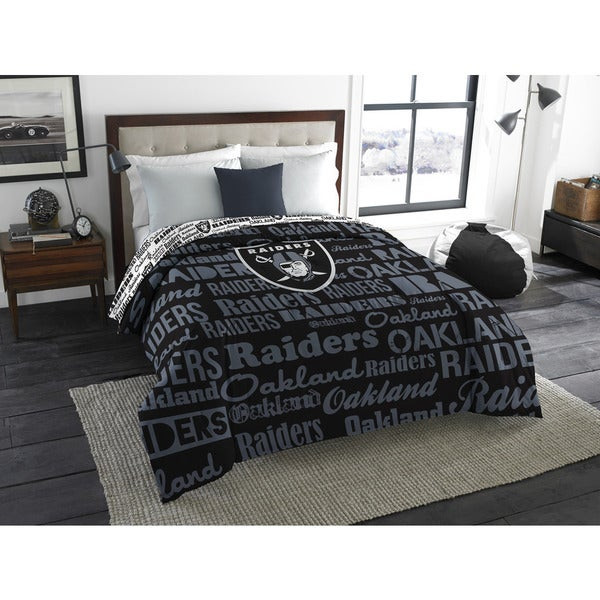 The Northwest Company Official NFL Oakland Raiders Anthem Full Comforter
