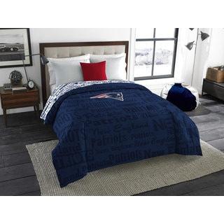 The Northwest Company Official NFL 877 New England Patriots Anthem Full Comforter