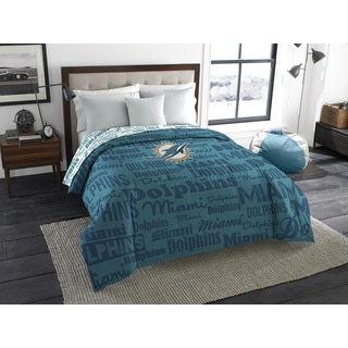 The Northwest Company Official NFL 877 Dolphins Anthem Full Comforter