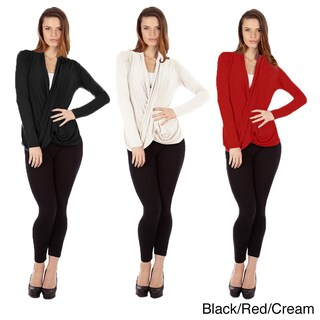 Dinamit Women's Multicolor Cris Cross Draped Sweaters (Pack of 3) (More options available)