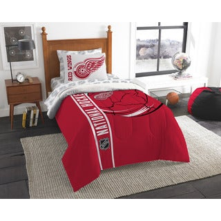 The Northwest Company NHL Detroit Red Wings Twin 5-piece Bed in a Bag with Sheet Set