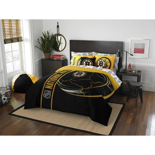 NHL 846 Bruins Full 7-piece Bed in a Bag with Sheet Set