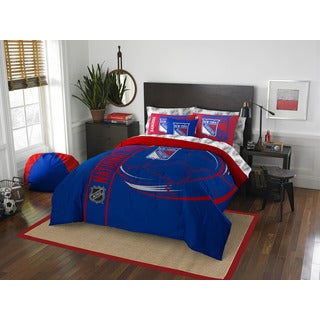 NHL 846 NY Rangers Full 7-piece Bed in a Bag with Sheet Set