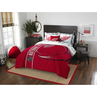NHL 846 Red Wings Full 7-piece Bed in a Bag with Sheet Set