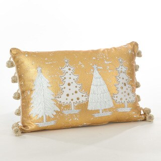 Donnelou Collection Christmas Tree Design Down Filled Cotton Throw Pillow