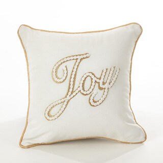 Donnelou Collection Joy Embroidered Down Filled Cotton Throw Pillow