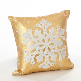 Donnelou Collection Snowflake Design Down Filled Cotton Throw Pillow
