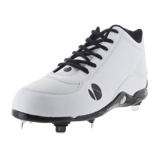 Verdero Men's Classic Mid Metal White Mesh Baseball Cleats