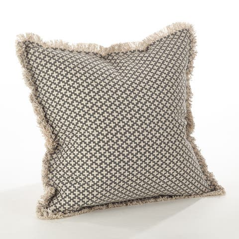 Corinth Collection Moroccan Tile Design Down Filled Cotton Throw Pillow