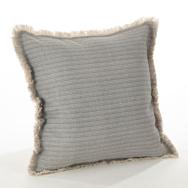 Canberra Collection Fringed Pinstriped Down Filled Cotton Throw Pillow. Opens flyout.
