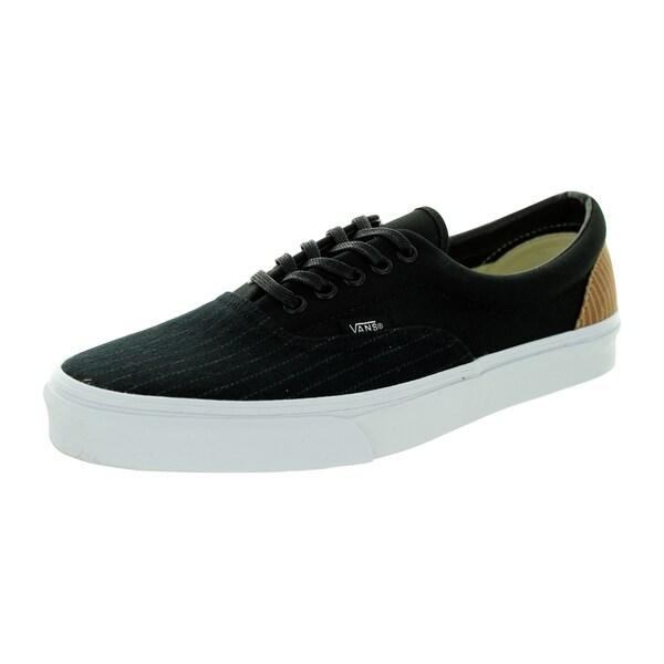 5e79e1150fbbd2 Shop Vans Unisex Era Black Canvas Skate Shoes - Free Shipping Today ...