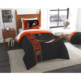 The Northwest Company Official NHL Philadelphia Flyers Twin Applique 2-piece Comforter Set