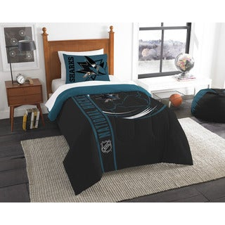 The Northwest Company Official NHL San Jose Sharks Twin Applique 2-piece Comforter Set