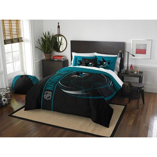 The Northwest Company Official NHL 836 Sharks Full Applique Comforter and 2 Shams set