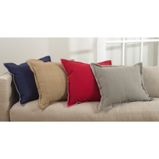 Celena Collection Whip Stitched Flange Design Down Filled Throw Pillow