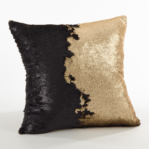 Sirun Collection Sequin Mermaid Design Down Filled Throw Pillow