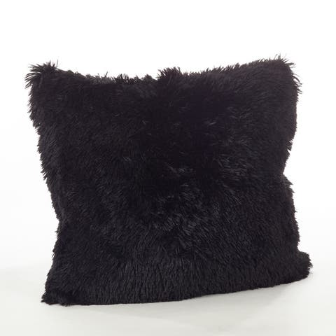 Buy Black Faux Fur Throw Pillows Online At Overstock