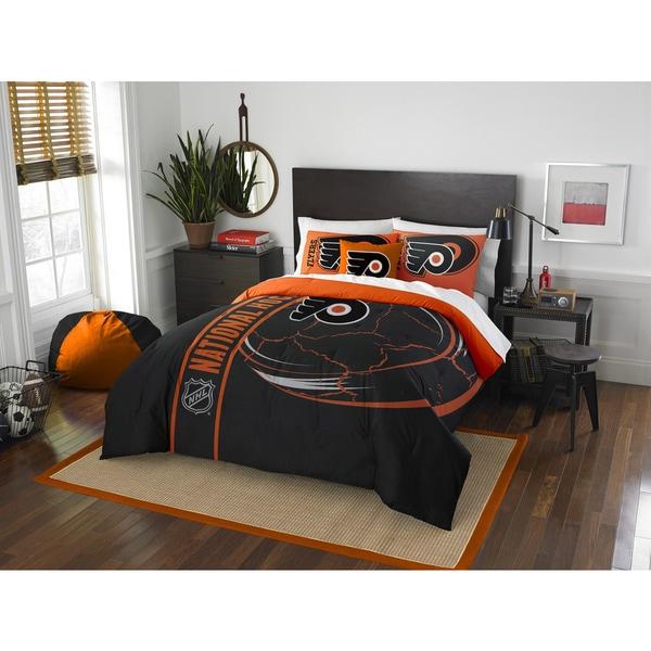 The Northwest Company Official NHL Philadelphia Flyers Full Applique 3-piece Comforter Set
