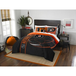 The Northwest Company Official NHL Philadelphia Flyers Full Applique 3-piece Comforter Set