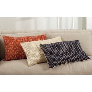 Marcella Collection Chevron Design Cotton Down Filled Throw Pillow