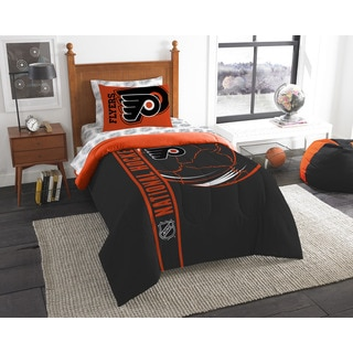 The Northwest Company NHL Philadelphia Flyers Twin 5-piece Bed in a Bag with Sheet Set