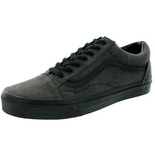 Vans Unisex Old Skool Overwashed Black Skate Shoe