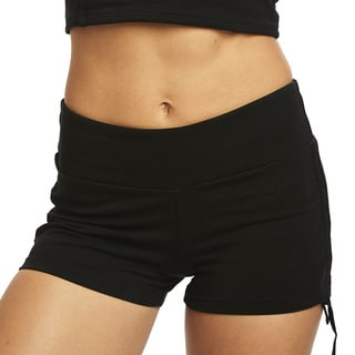 Satva Organic Women's Ashi Black Cotton/Spandex Athletic Shorts
