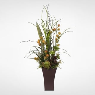 Succulent Centerpiece in a Metal Container