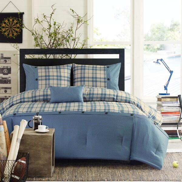 Intelligent Design Campbell Blue Comforter Set